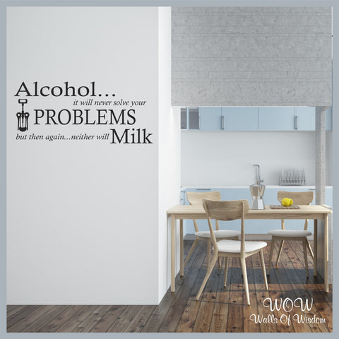 FREE UK Shipping Wall Stickers & Decals - Alcohol Milk. - Walls Of Wisdom