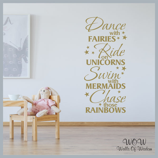 FREE UK Delivery Wall Stickers and Decals - Dance With Fairies. - Walls Of Wisdom