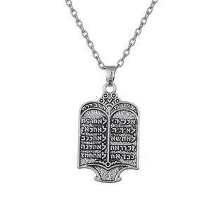 10 Commandments Necklace Jewelry - Judah Fashions