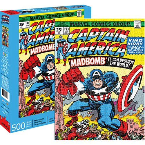 Aquarius Captain America Cover 500-Piece Puzzle