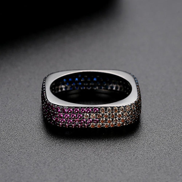 Multi Color Square Ring