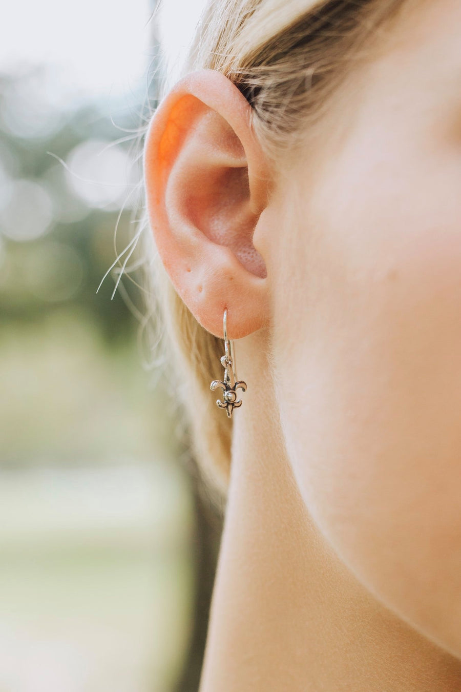 Fleur de Lis Mini Earrings