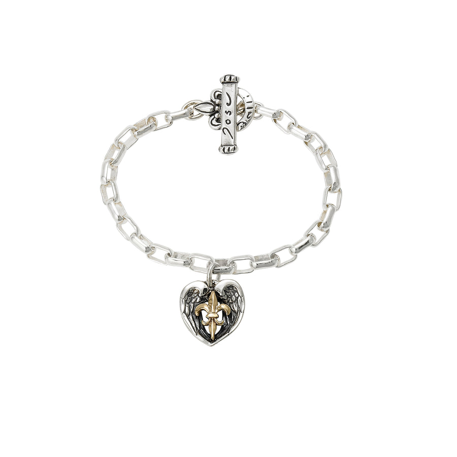 Saints & Angels 2-tone Gold Bracelet