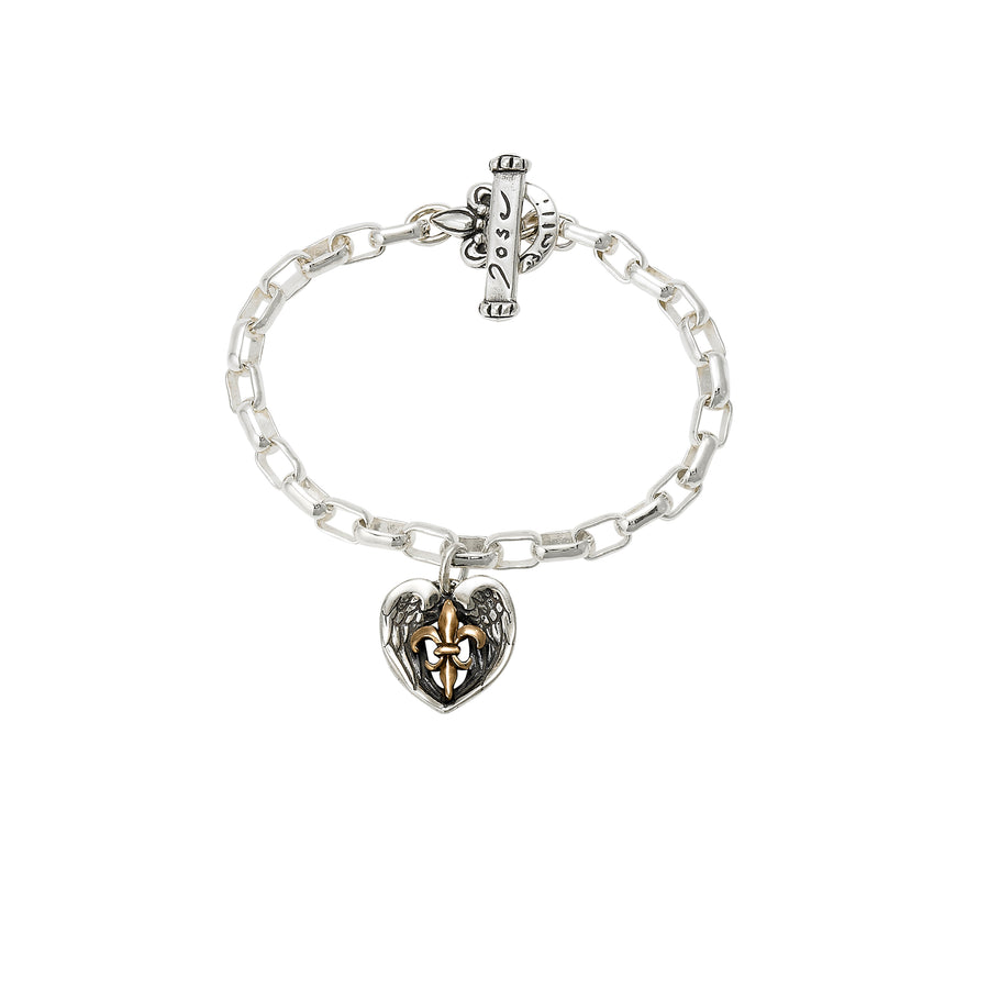 Saints & Angels 2-tone Bronze Bracelet