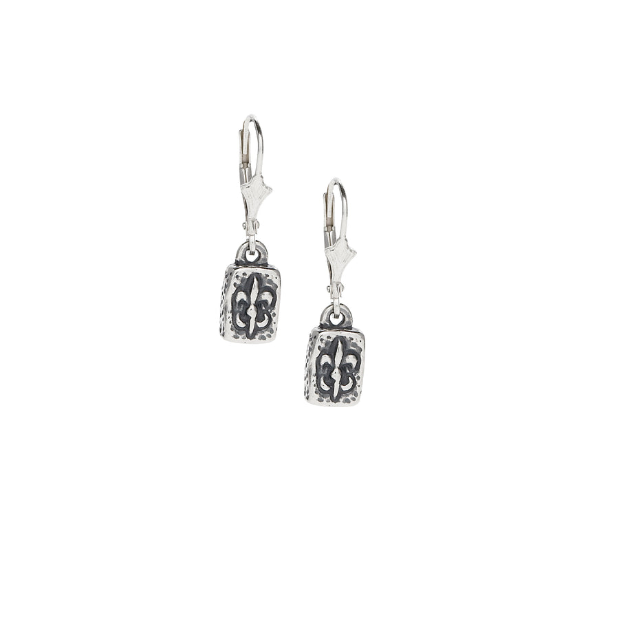 Fleur de Lis Brick Mini Earrings