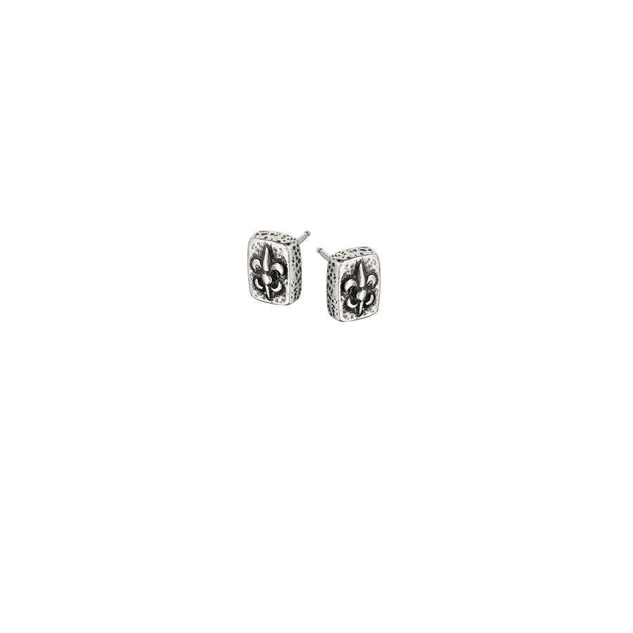 Fleur de Lis Brick Mini Post Earrings