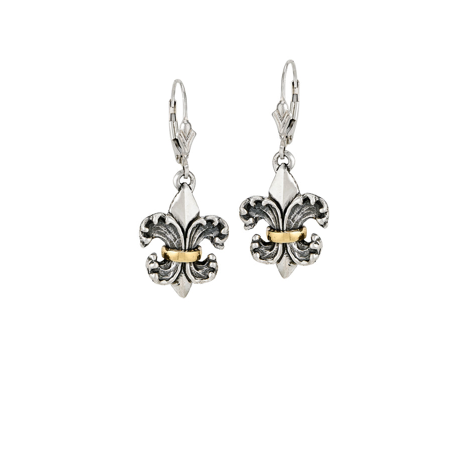 Water Lily 2-tone Earrings