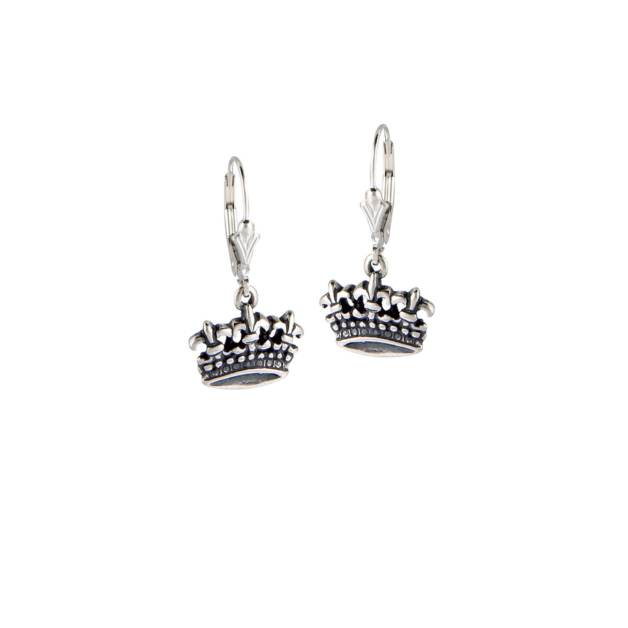 Fleur de Lis Triple Crown Mini Earrings