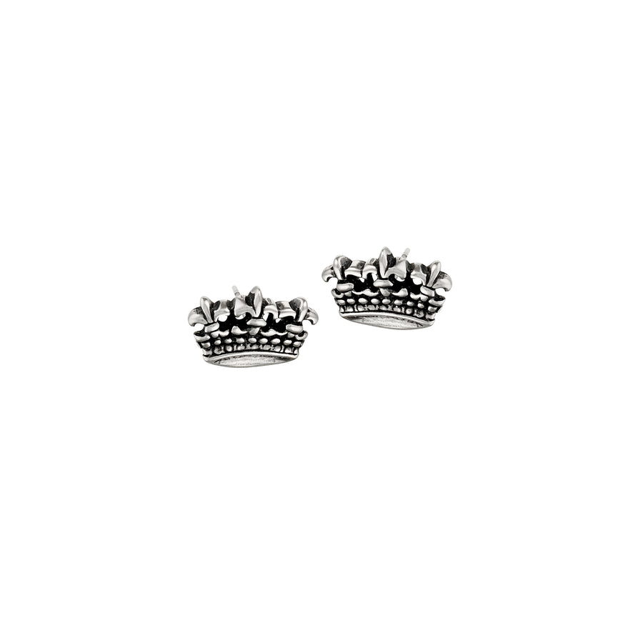 Fleur de Lis Triple Crown Post Earrings