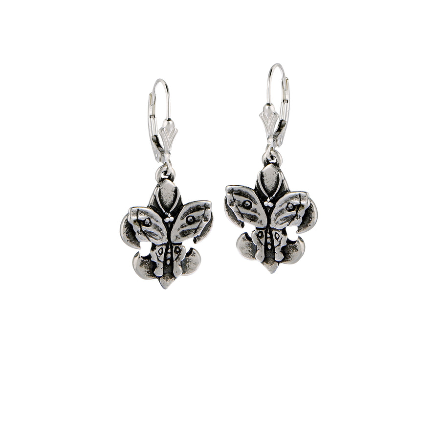 Fleur de Lis Butterfly Earrings