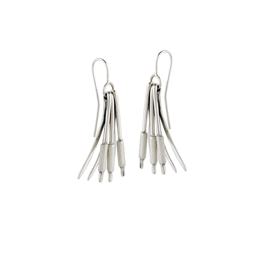 Cattails Triple Earrings