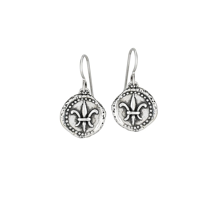 Fleur de Lis Doubloon Earrings