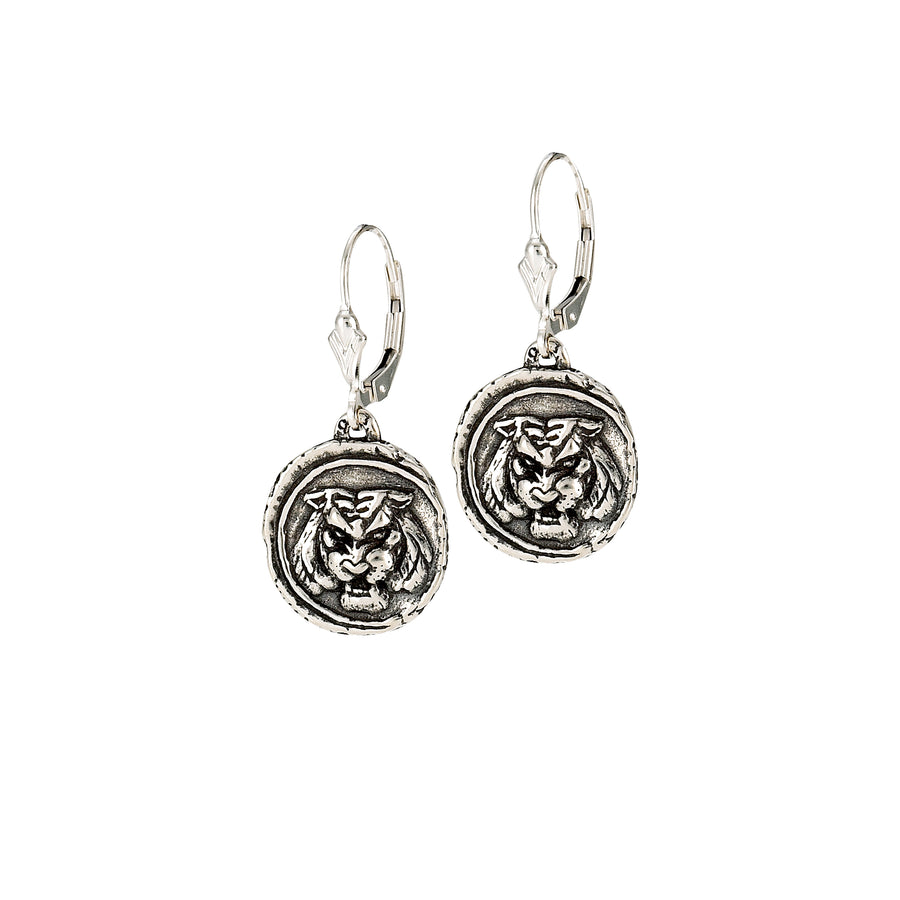 Tiger Doubloon Earrings