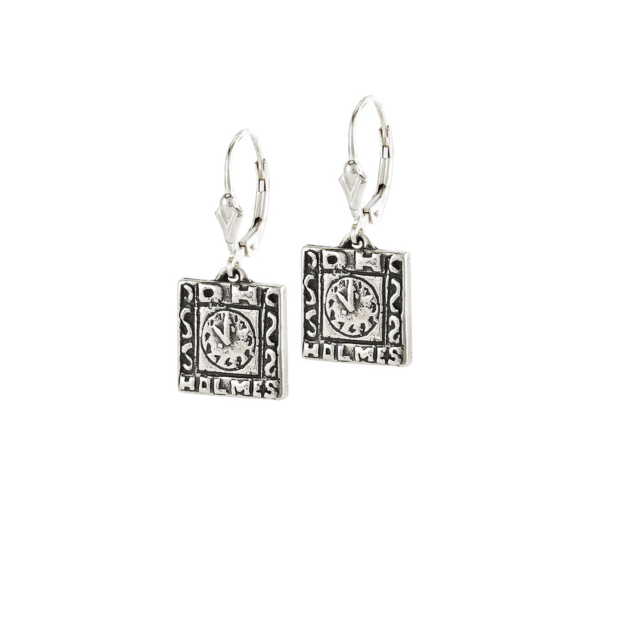 D.H. Holmes Clock Earrings