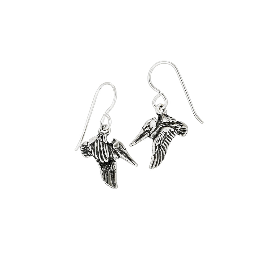 Pelican in Flight Earrings