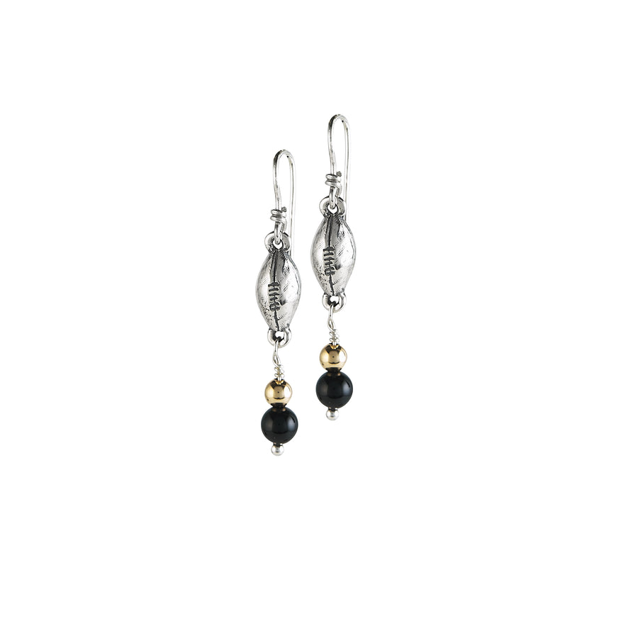 Football Onyx Earrings