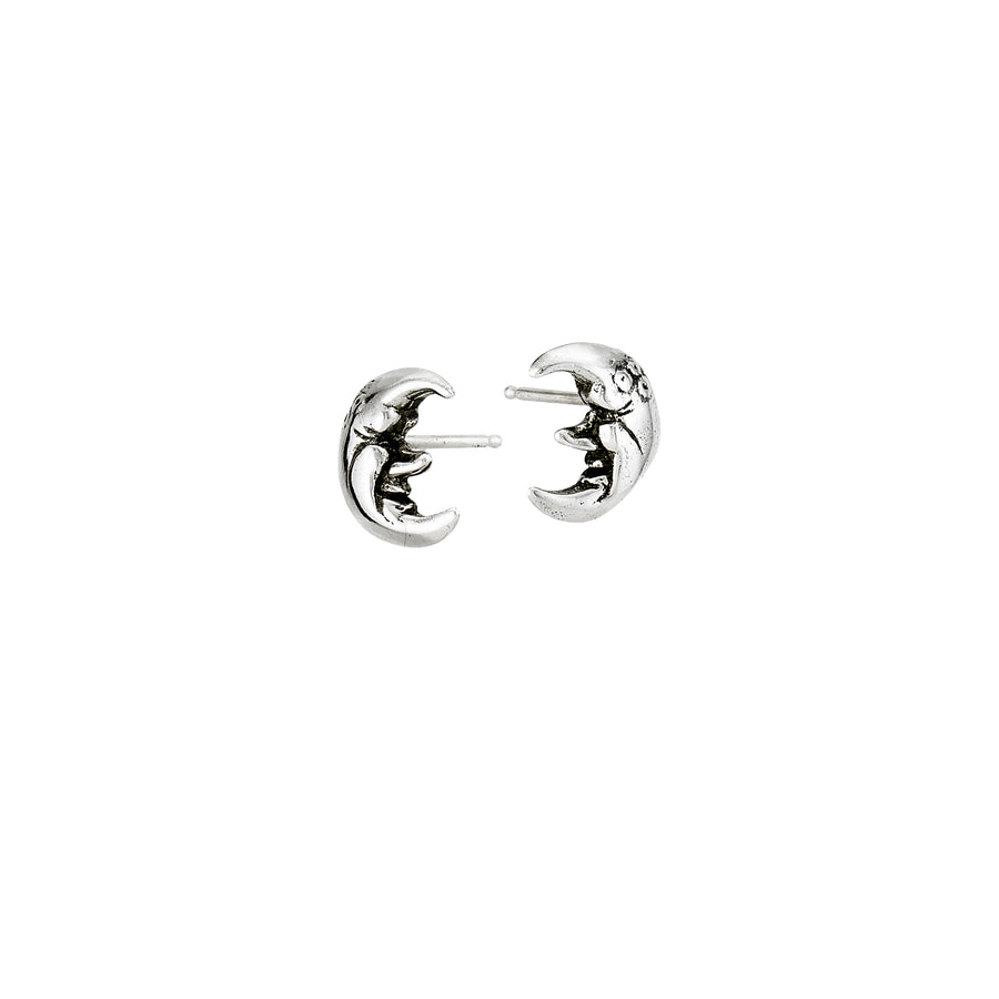 Crescent Moon Mini Post Earrings
