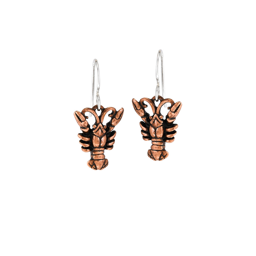 Crawfish Small Copper Earrings