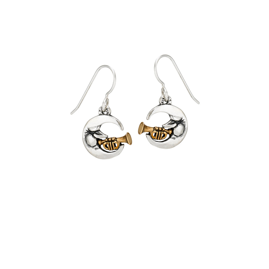 Jazz Man in the Moon Earrings