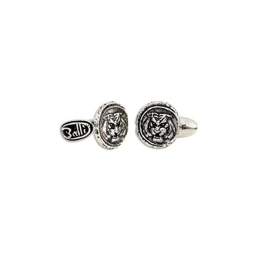 Tiger Doubloon Cuff Links