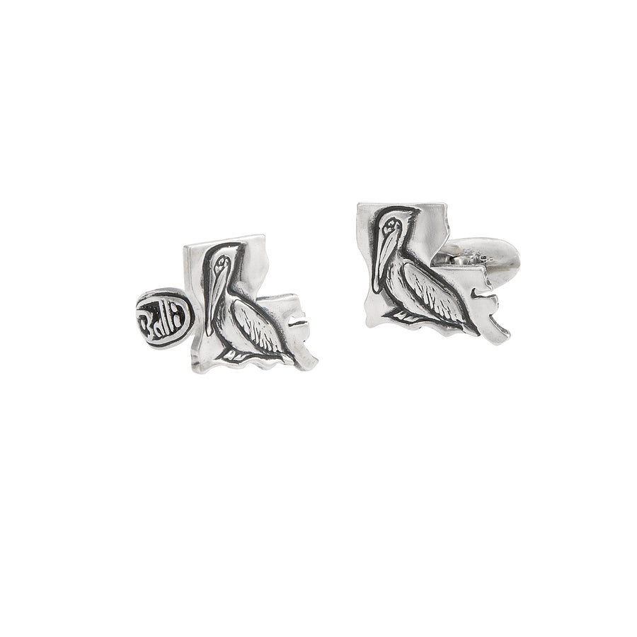 Louisiana Pelican Cuff Links