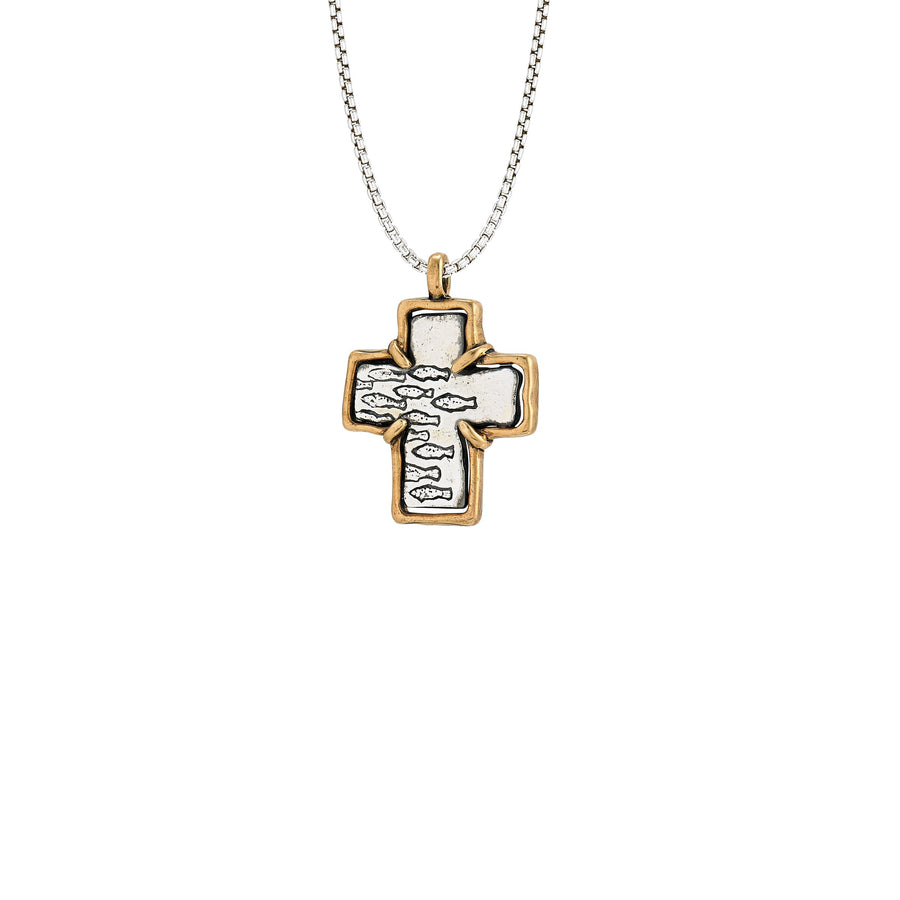 Image of Two-tone Cross Pendant