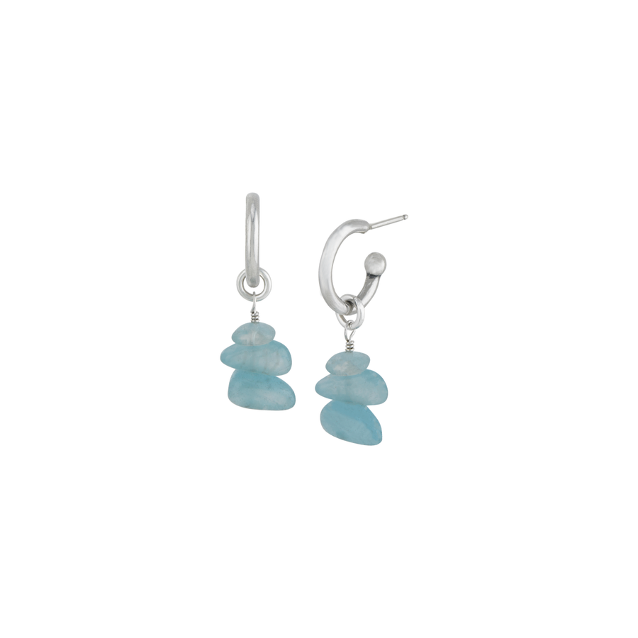 Blue Rock Candy Hoop Earrings