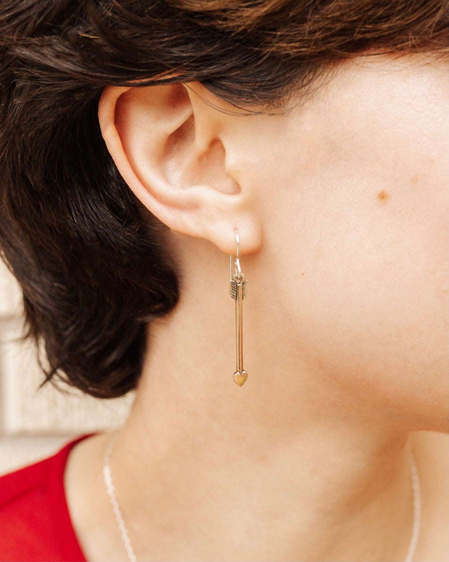 NEW Love Struck Bronze Arrow Earrings