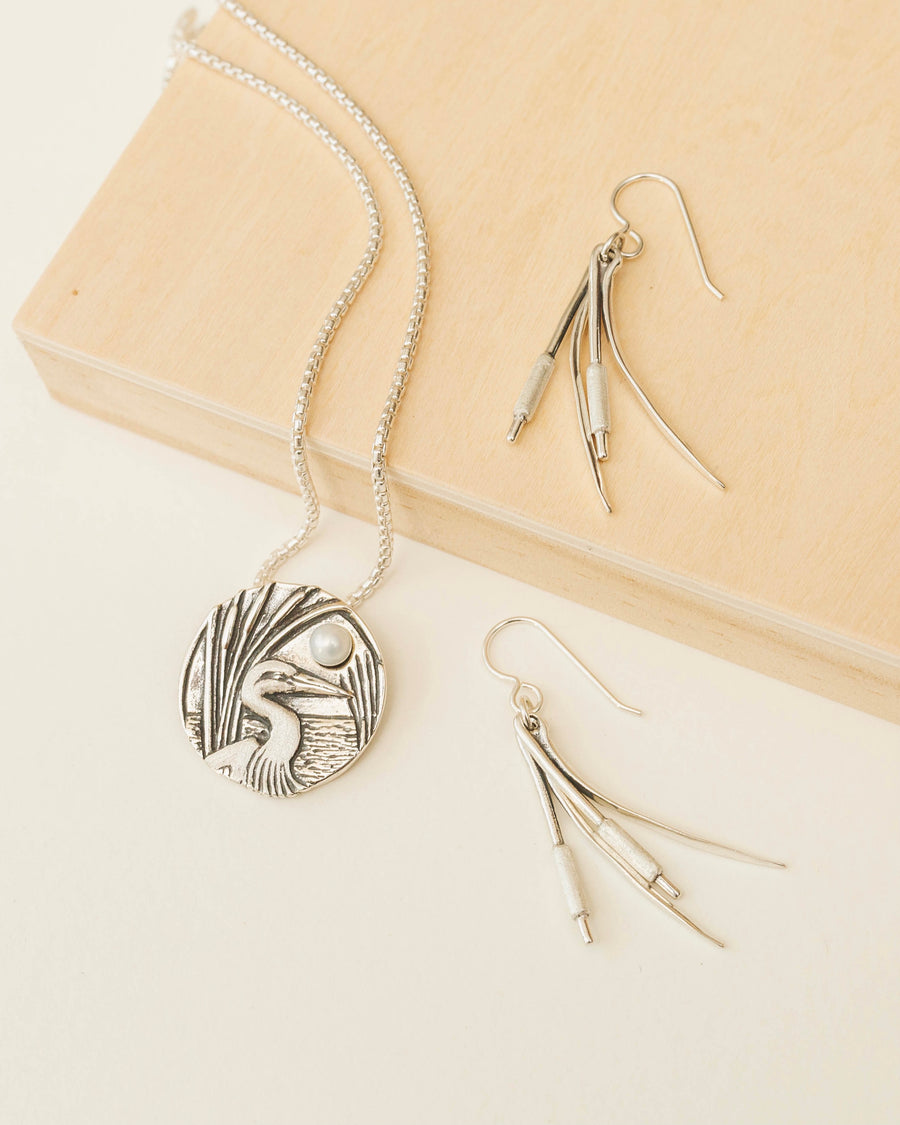 Cattails Double Earrings