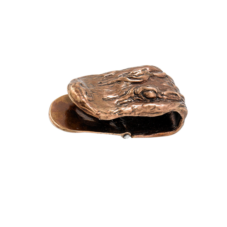 Gator Head Bronze Money Clip
