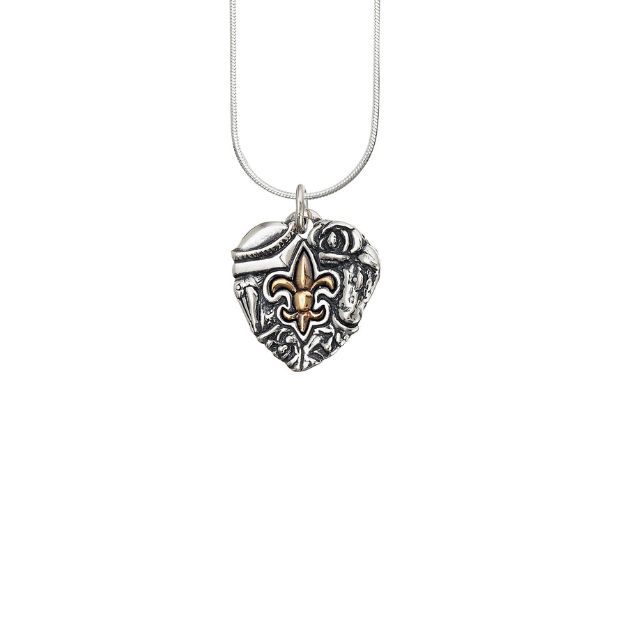 Heart of Louisiana 2-tone Pendant