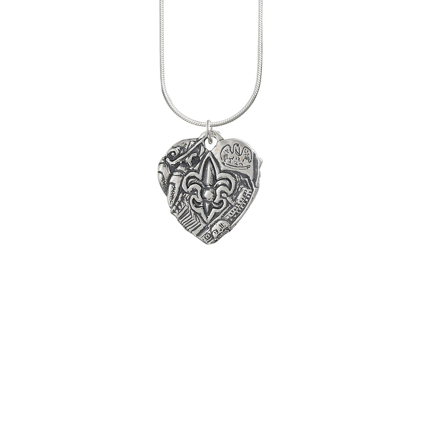 Heart of Louisiana Solid Pendant