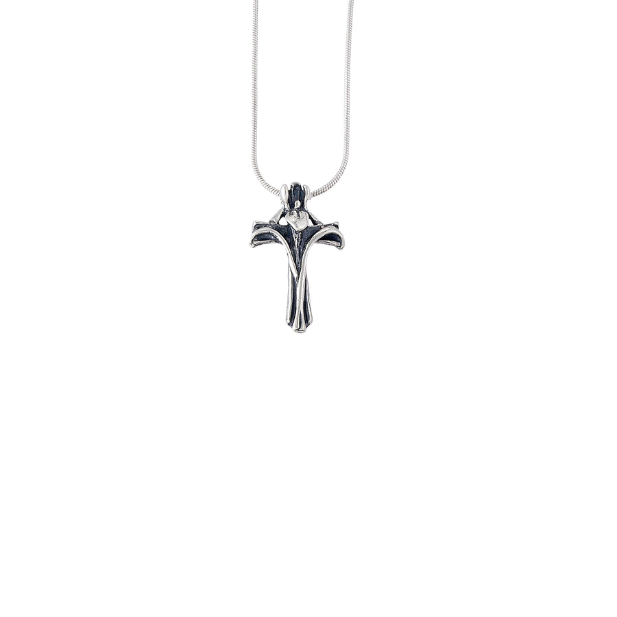 Iris Cross Pendant