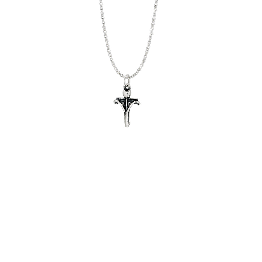 Tulip Cross Small Pendant