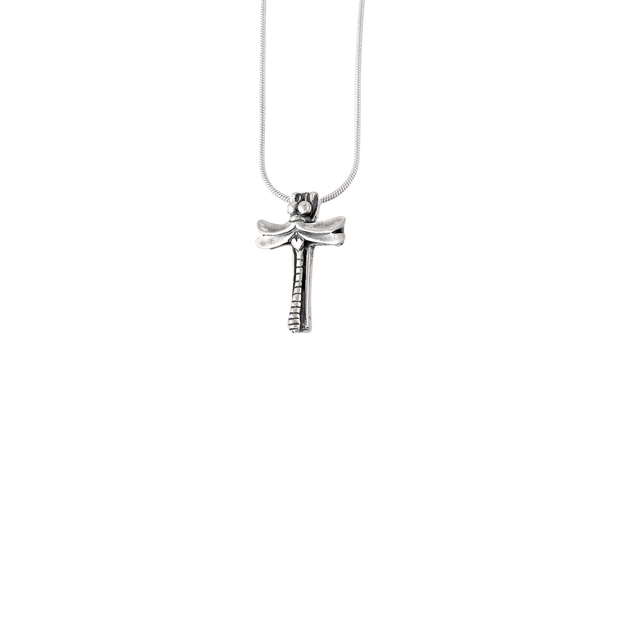 Dragonfly Cross Pendant