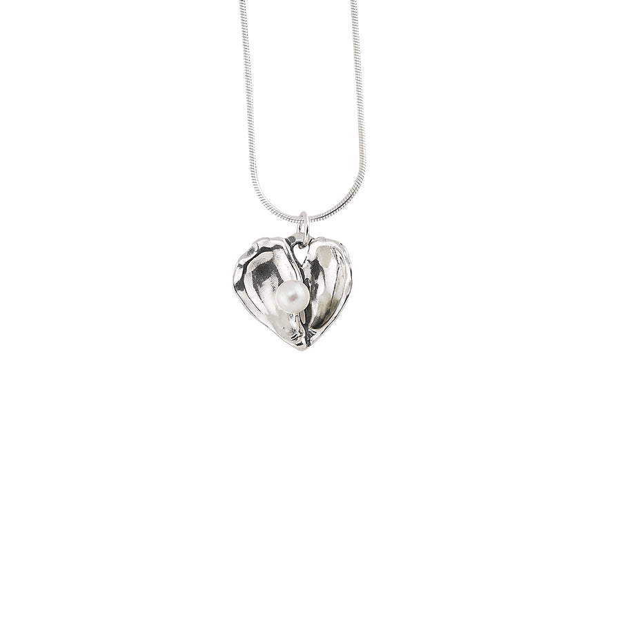 Oyster Heart Pearl Pendant