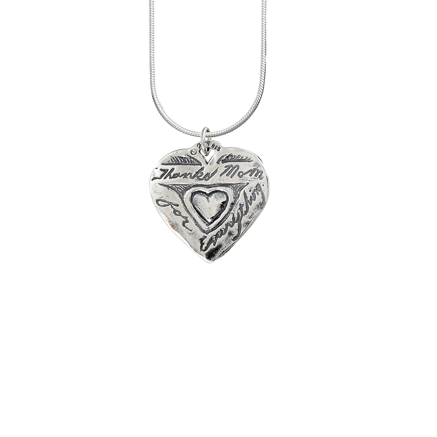 Mother's Heart Solid Pendant