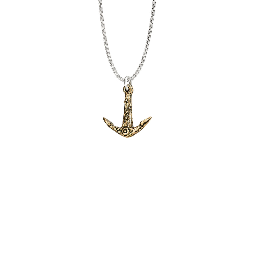 Ancient Anchor Bronze Pendant