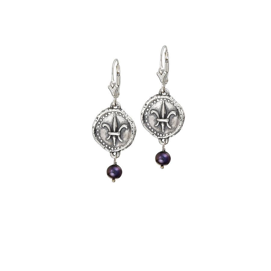 Image of Freshwater Peacock Pearl Doubloon Earrings