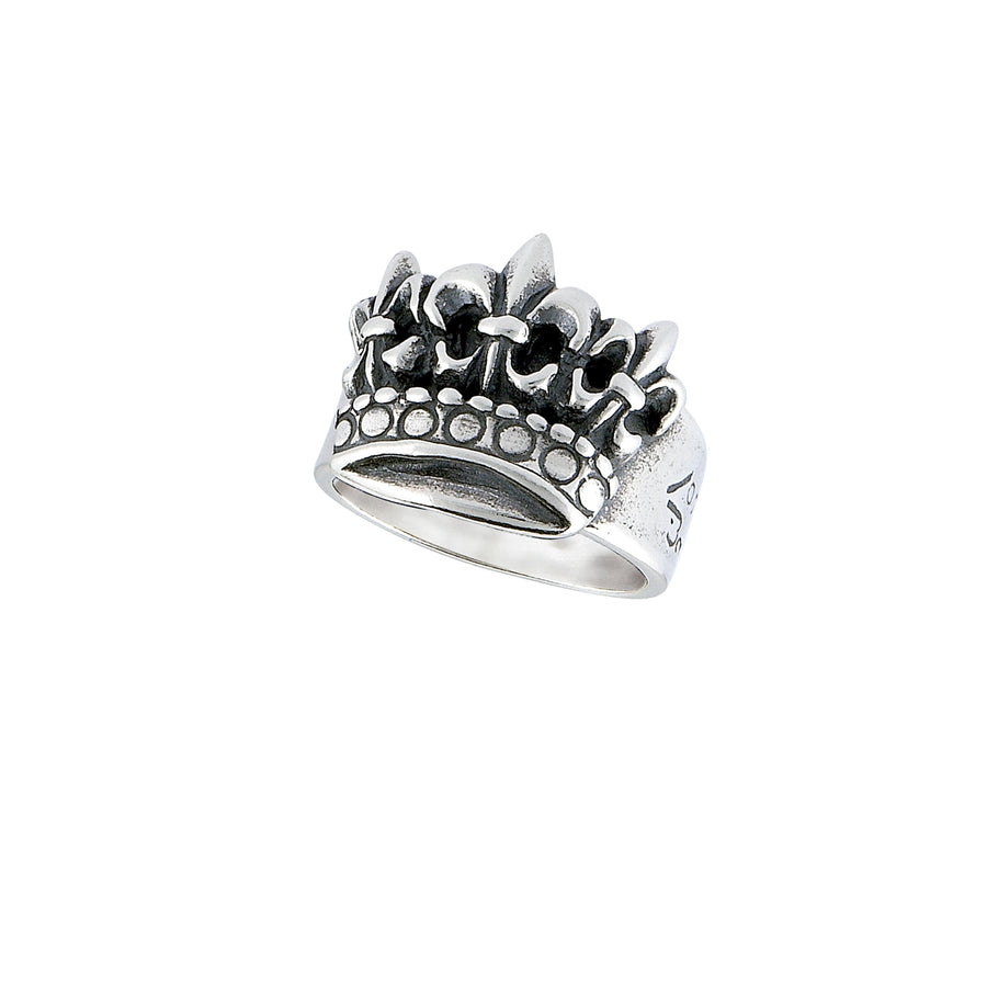 Fleur de Lis Triple Crown Ring