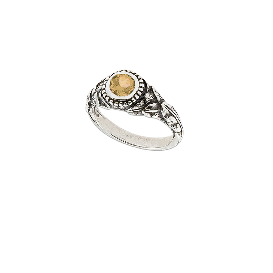 Banana Leaf Stone Ring