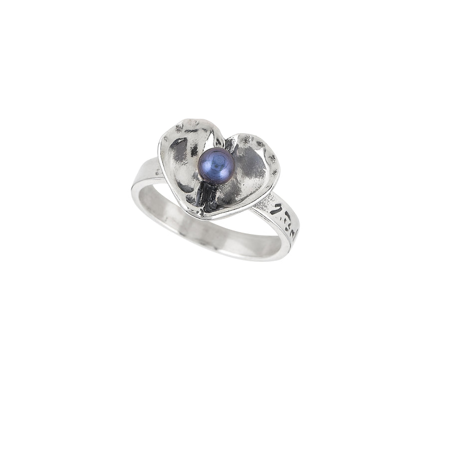 Oyster Heart Pearl Ring