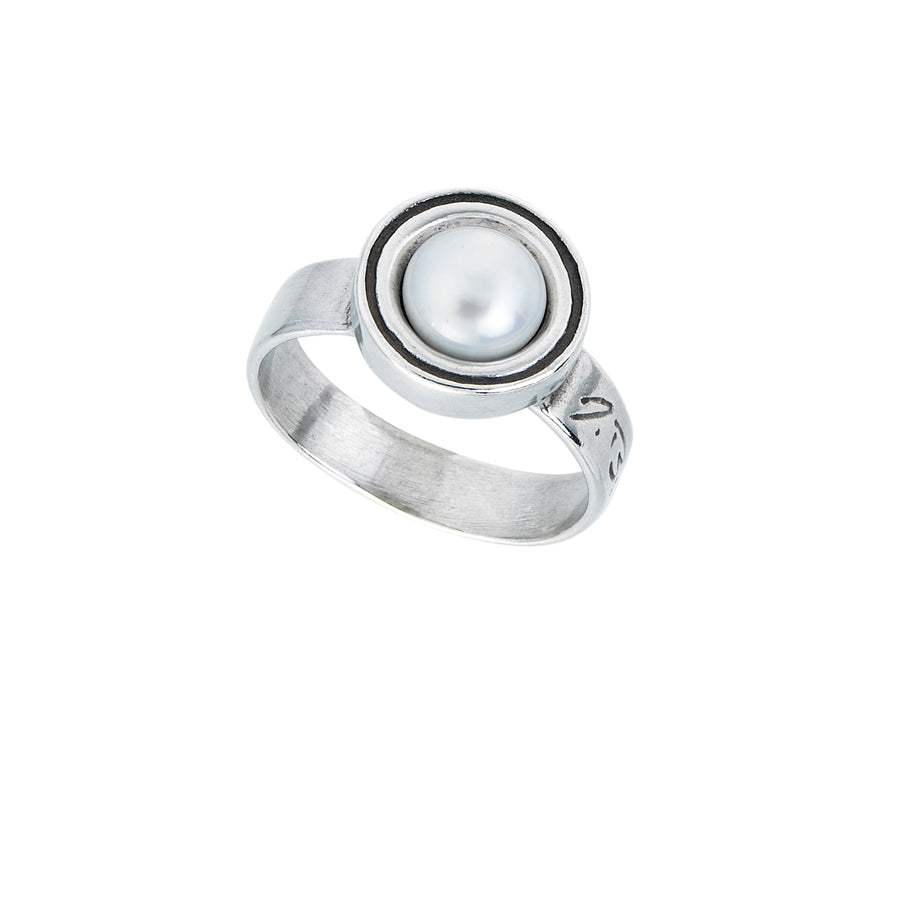 Deceaux Large Pearl Ring