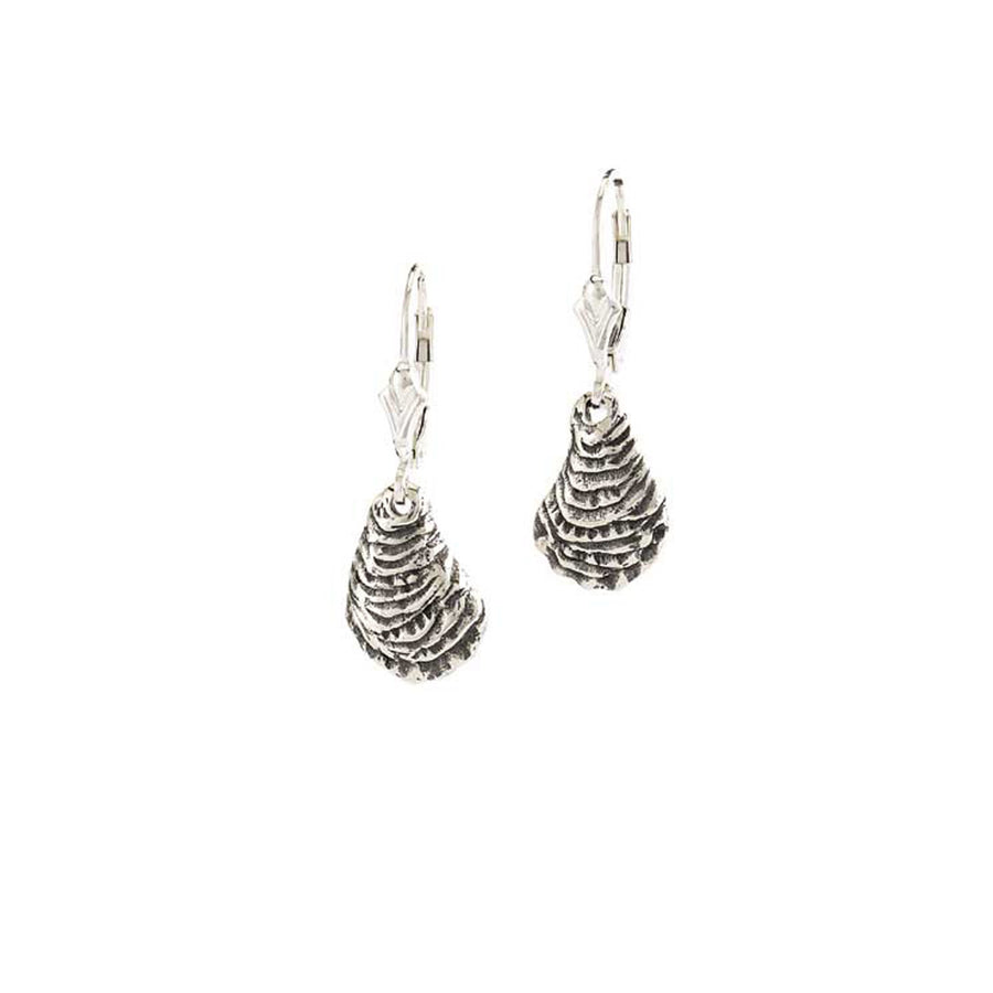 Image of Lever Back Oyster Shell Earrings