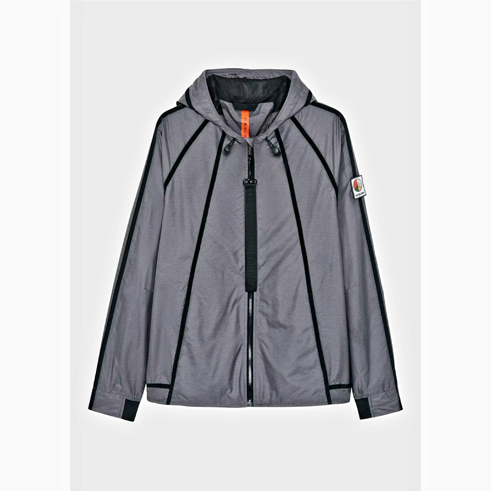 Raeburn Lightweight Hooded Windbreaker - Slate Grey