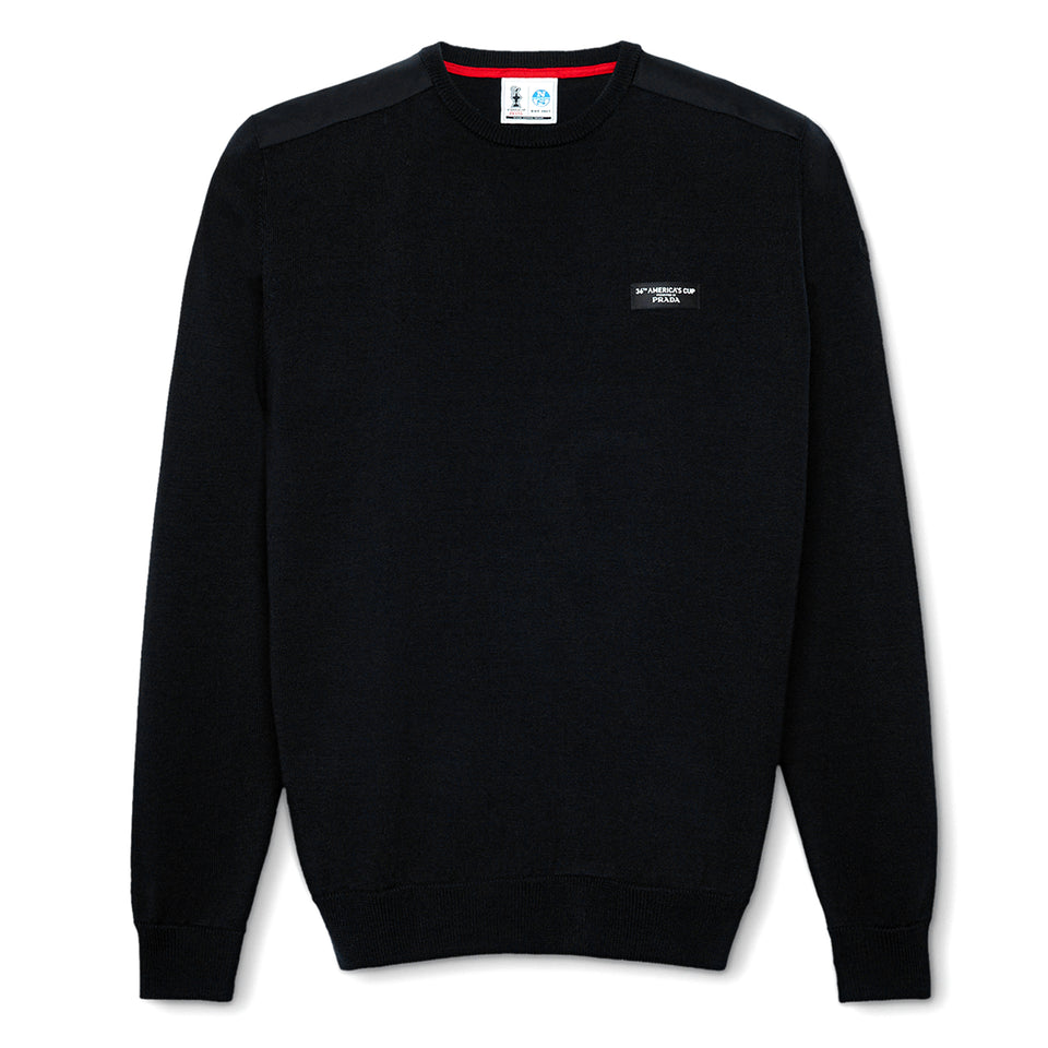 AC36 Presented By Prada Howick Round Neck Jumper - Black