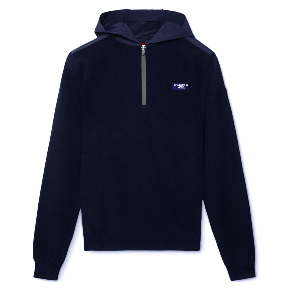 AC36 Presented By Prada Levin Hooded Half Zip - Navy