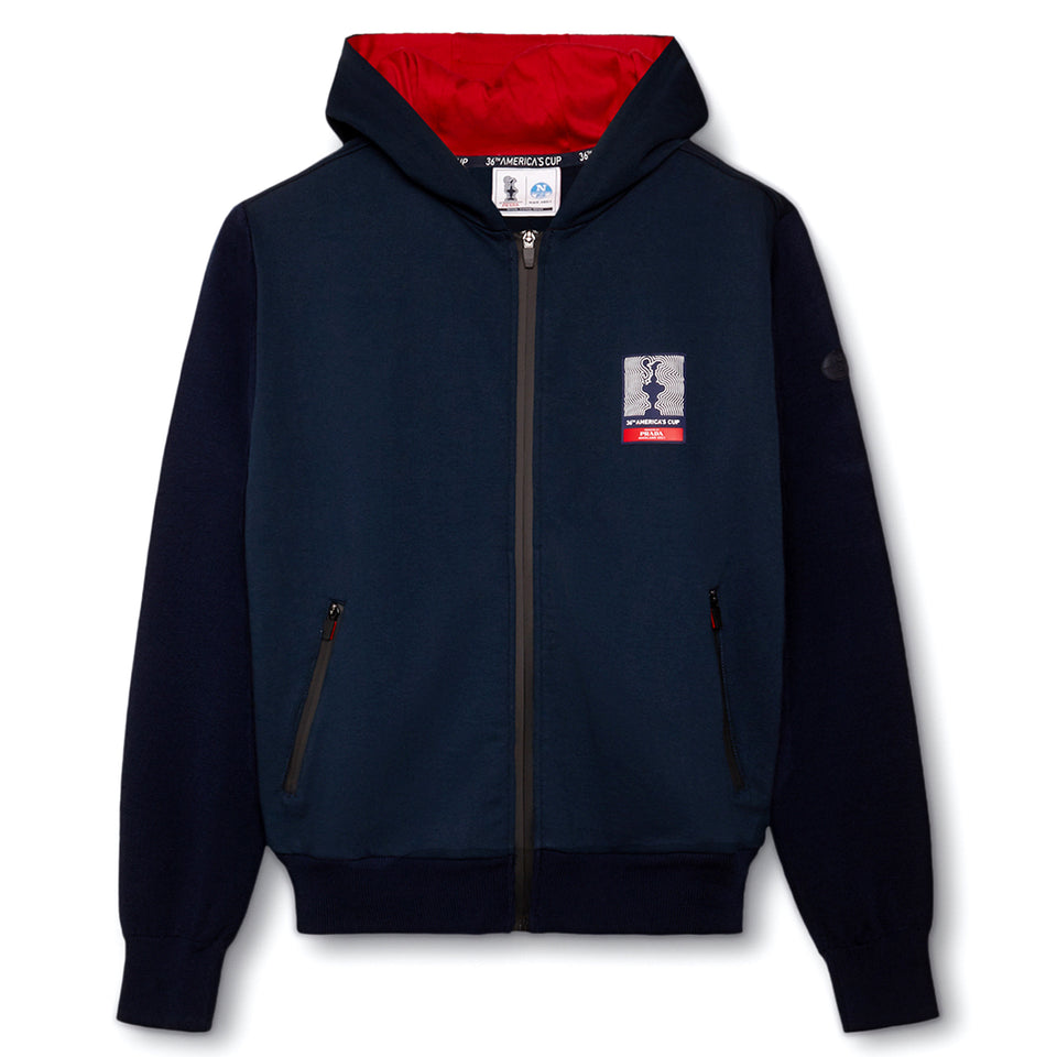 AC36 Presented By Prada Gore Stretch Hoodie - Navy