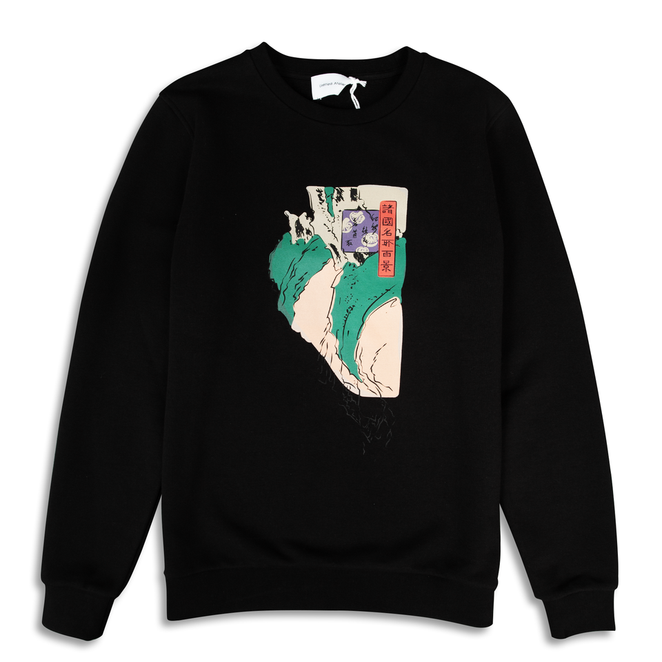 Untitled Atelier Abstract Art Printed Sweatshirt - Black