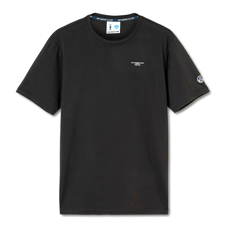 Prada x North Sails Basic T-Shirt Black